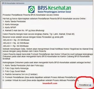 Langkah/Step/Prosedur Daftar BPJS Online
